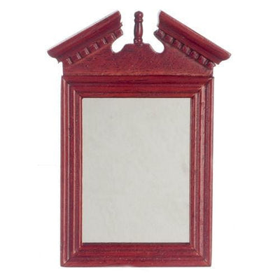Mahogany Dollhouse Miniature Mirror - Little Shop of Miniatures