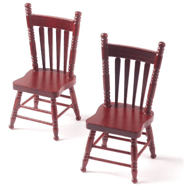 mahogany dollhouse miniature kitchen chairs