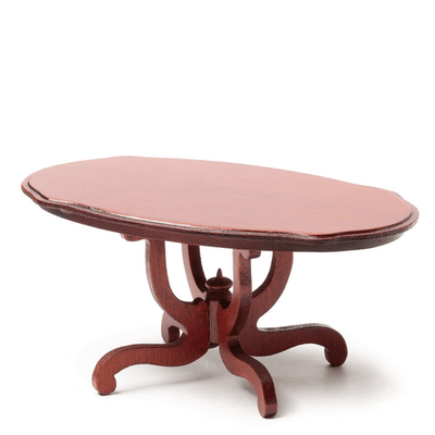 mahogany dollhouse miniature dining table