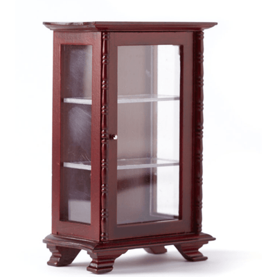mahogany dollhouse miniature display case