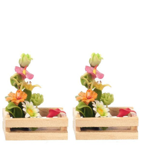 miniature flowers baskets