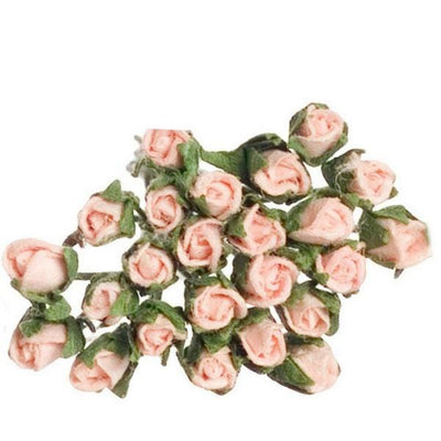 Dozen Pink Dollhouse Miniature Roses - Little Shop of Miniatures