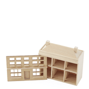 Unfinished Kids' Toy Dollhouse - Little Shop of Miniatures