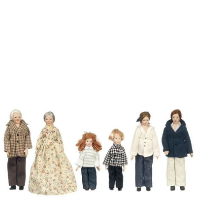 modern dollhouse doll family