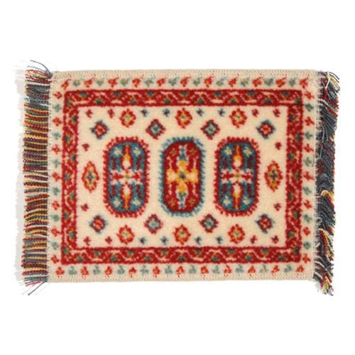 multicolored dollhouse miniature rug