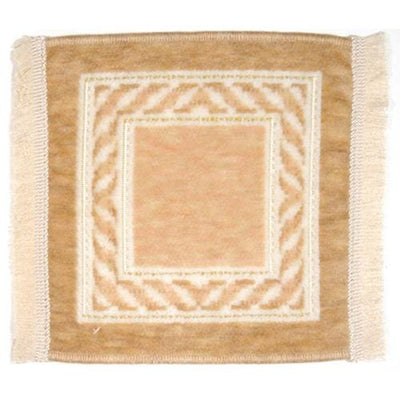 neutral dollhouse miniature rug