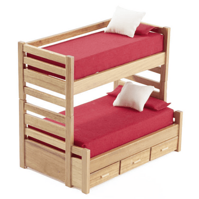oak dollhouse miniature bunk bed
