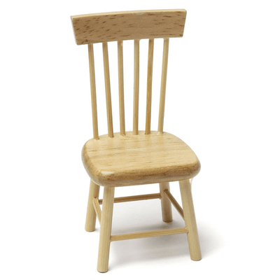 oak dollhouse miniature chair