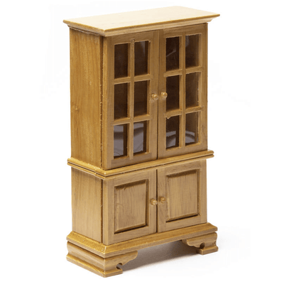 oak dollhouse miniature hutch