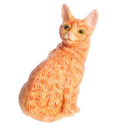 Orange Dollhouse Miniature Cat - Little Shop of Miniatures