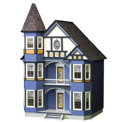 Painted lady wood dollhouse.