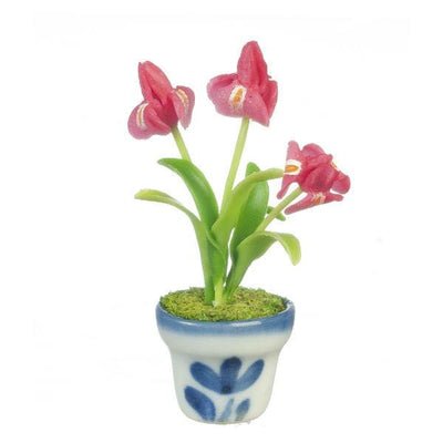 pink dollhouse miniature iris