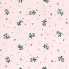 pink floral dollhouse wallpaper