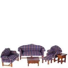 plaid dollhouse furniture