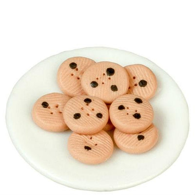 plate of dollhouse miniature cookies