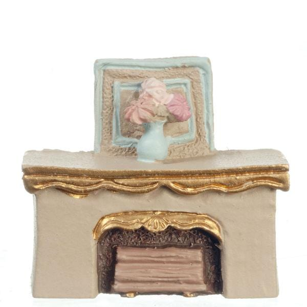 quarter scale dollhouse miniature fireplace