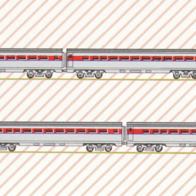 Red Choo Choo Train Dollhouse Wallpaper - Little Shop of Miniatures