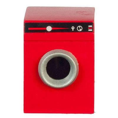 red dollhouse miniature dryer