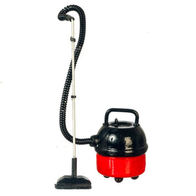 Red Dollhouse Miniature Canister Vacuum Cleaner - Little Shop of Miniatures