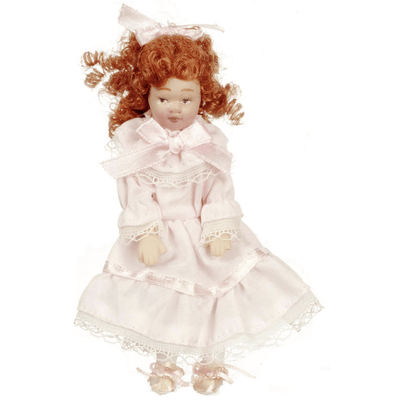 red hair dollhouse doll
