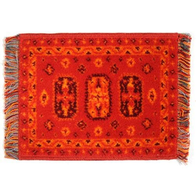 red turkish dollhouse miniature rug