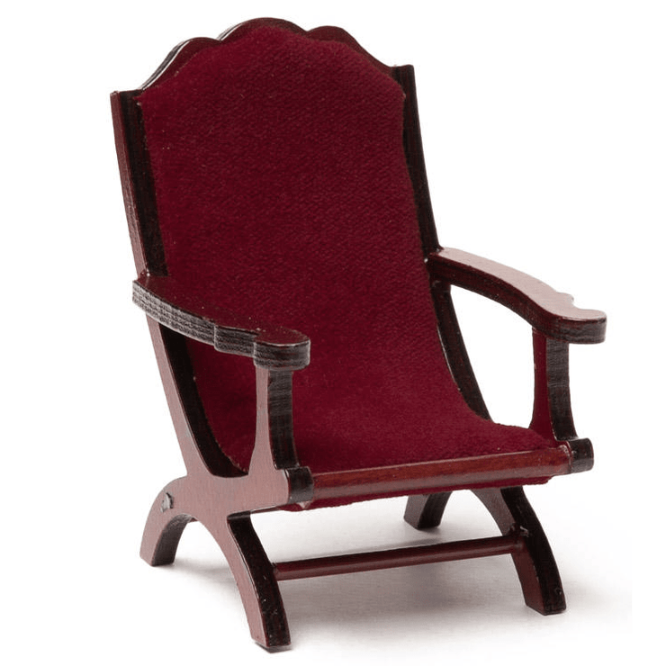 red velvet dollhouse miniature chair