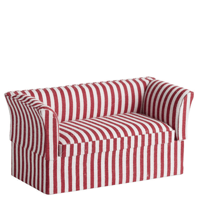 Striped Dollhouse Miniature Loveseat - Little Shop of Miniatures