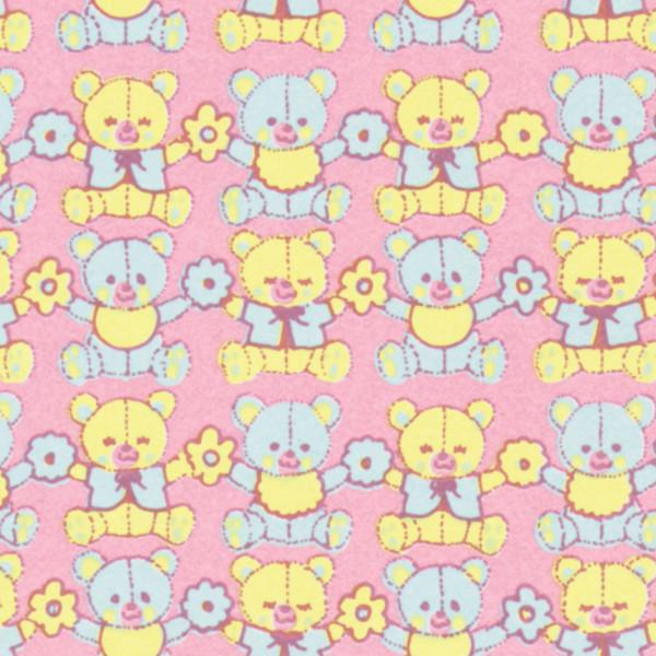 Teddy bear dollhouse wallpaper.
