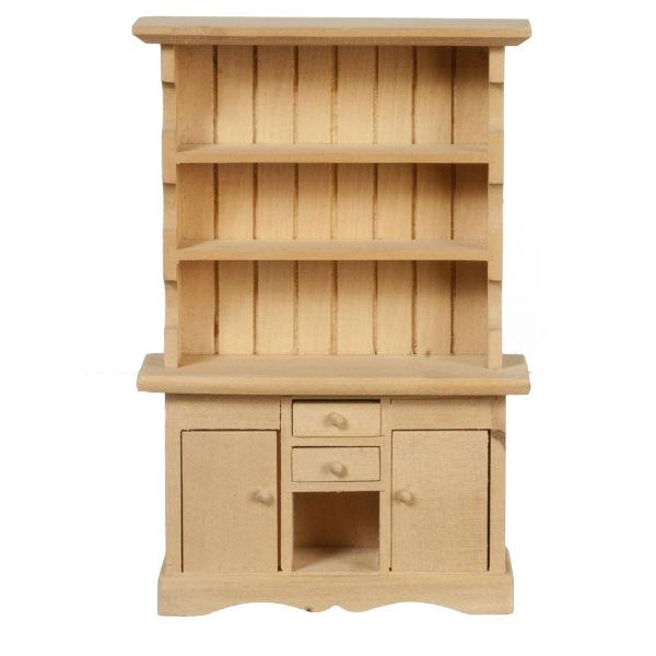 unfinished dollhouse miniature buffet cabinet