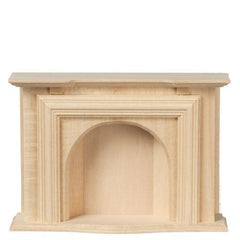 unfinished dollhouse miniature fireplace