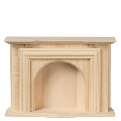Unfinished Dollhouse Miniature Fireplace - Little Shop of Miniatures