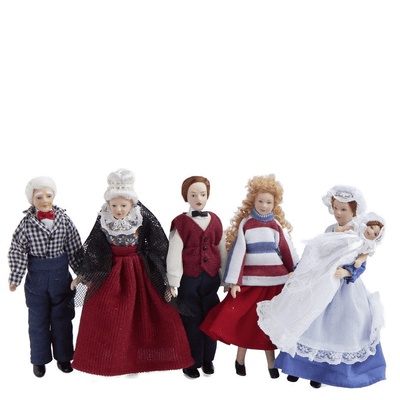 victorian dollhouse doll family