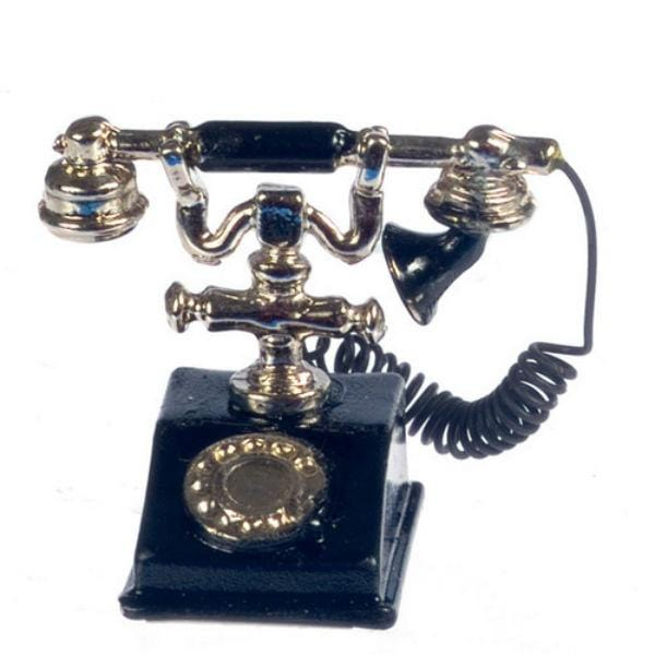 vintage dollhouse miniature telephone