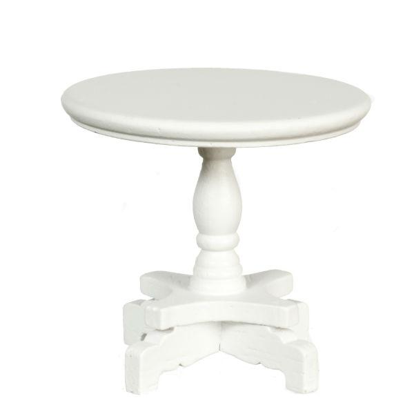 white dollhouse miniature end table