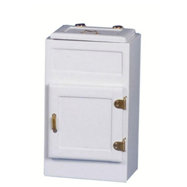 white dollhouse miniature icebox