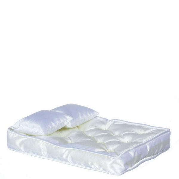 white dollhouse miniature mattress