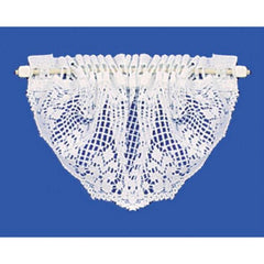 White lace dollhouse valance.
