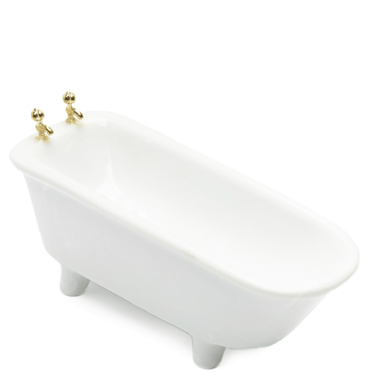 white dollhouse miniature bath tub