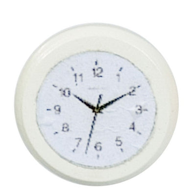 White Dollhouse Miniature Wall Clock - Little Shop of Miniatures