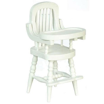 white dollhouse miniature high chair