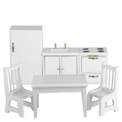 6-Piece White Dollhouse Miniature Kitchen Set - Little Shop of Miniatures