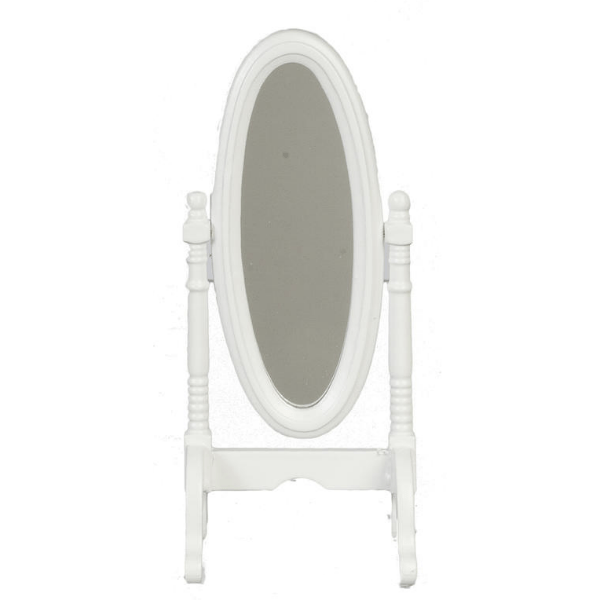 white dollhouse miniature mirror