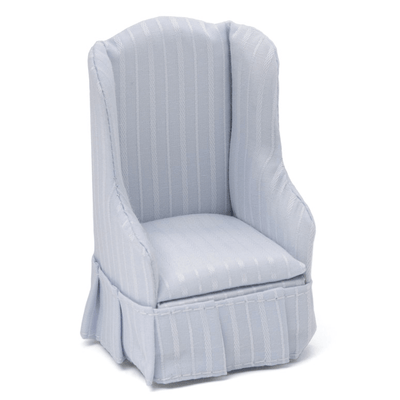white dollhouse miniature satin chair