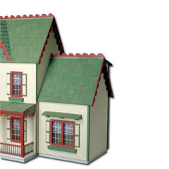 Wood dollhouse addition.