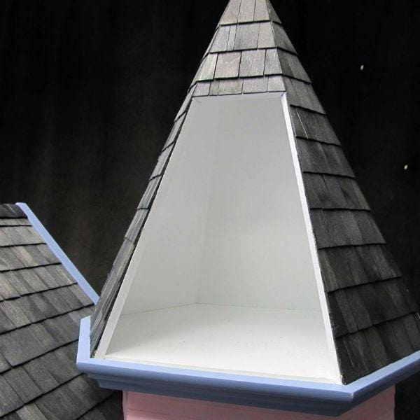 Wood dollhouse turret roof.