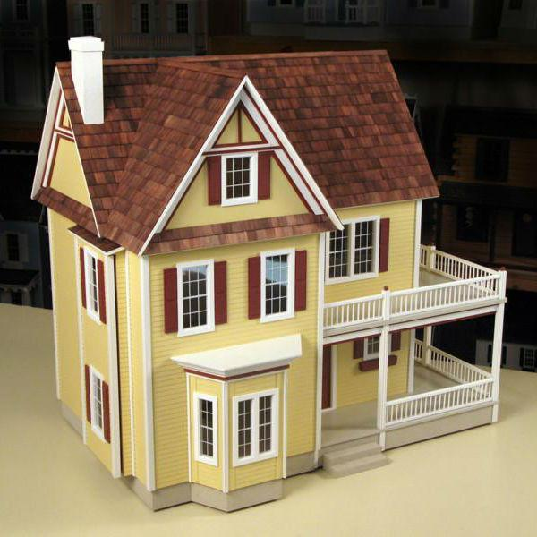 Victorias Farmhouse Wooden Dollhouse Kit Little Shop Of Miniatures