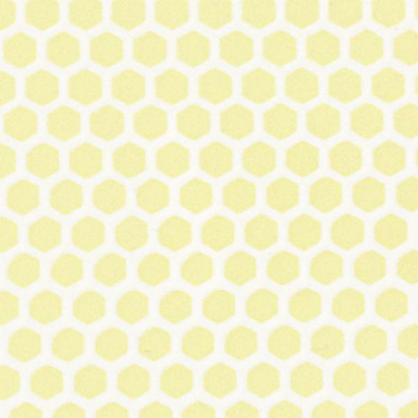 Yellow hexagon dollhouse miniature tile sheet.