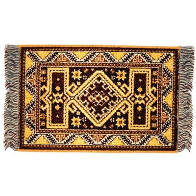 yellow dollhouse miniature kasak rug