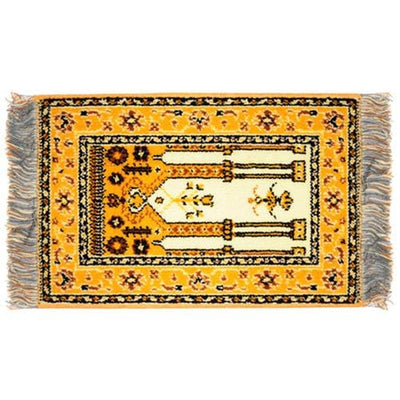yellow dollhouse miniature oriental rug