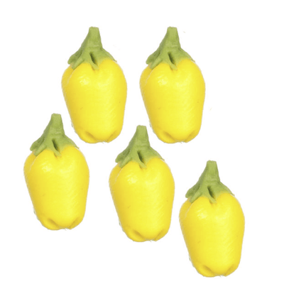 yellow dollhouse miniature peppers
